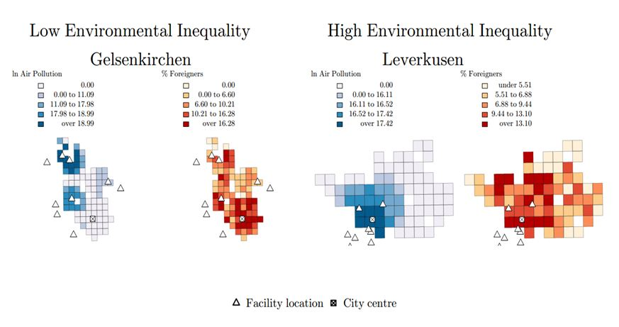 Environmental Inequality - Gelsenkirchen and Leverkusen