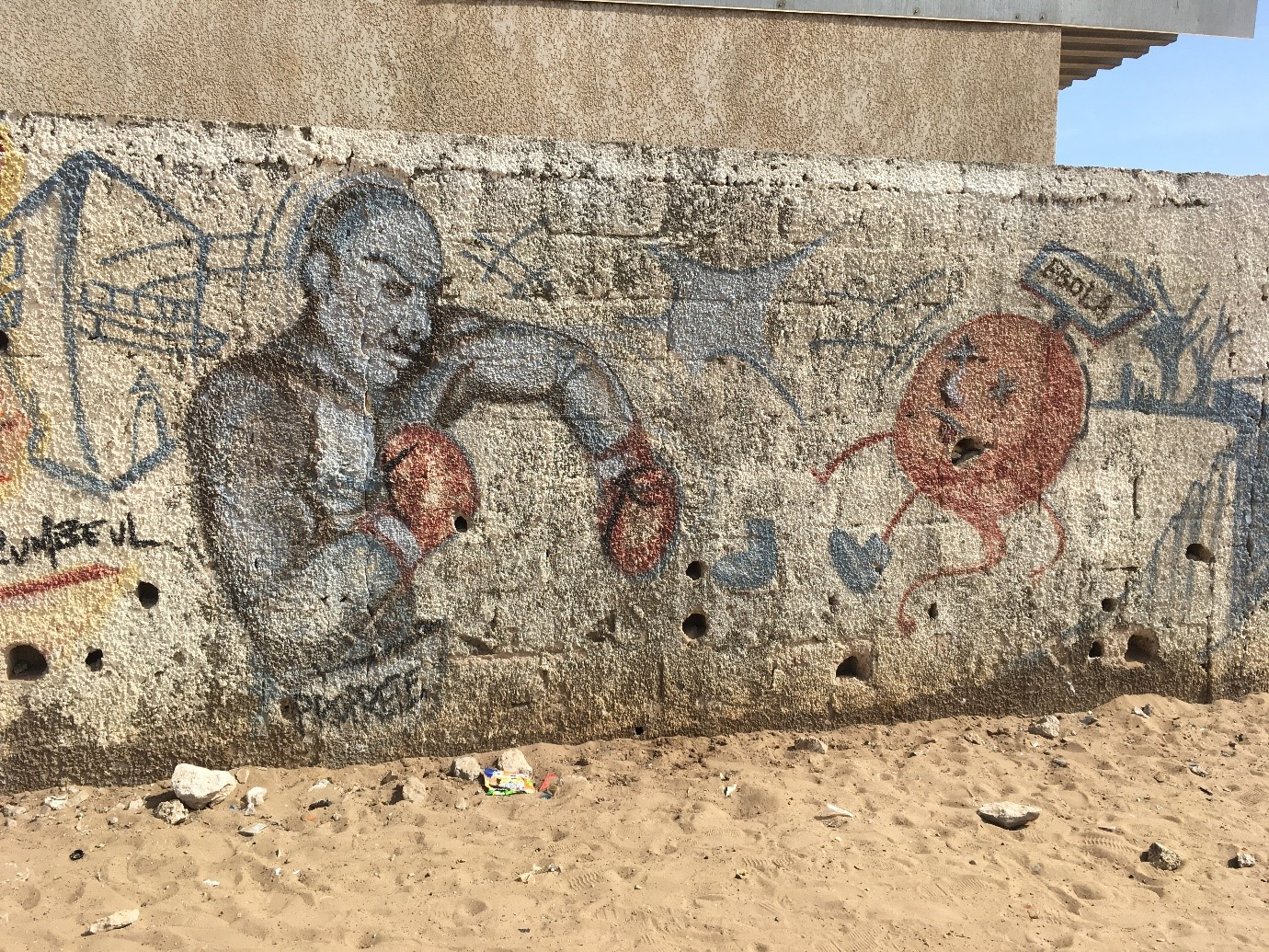 Ebola mural in Guediawaye, 2017