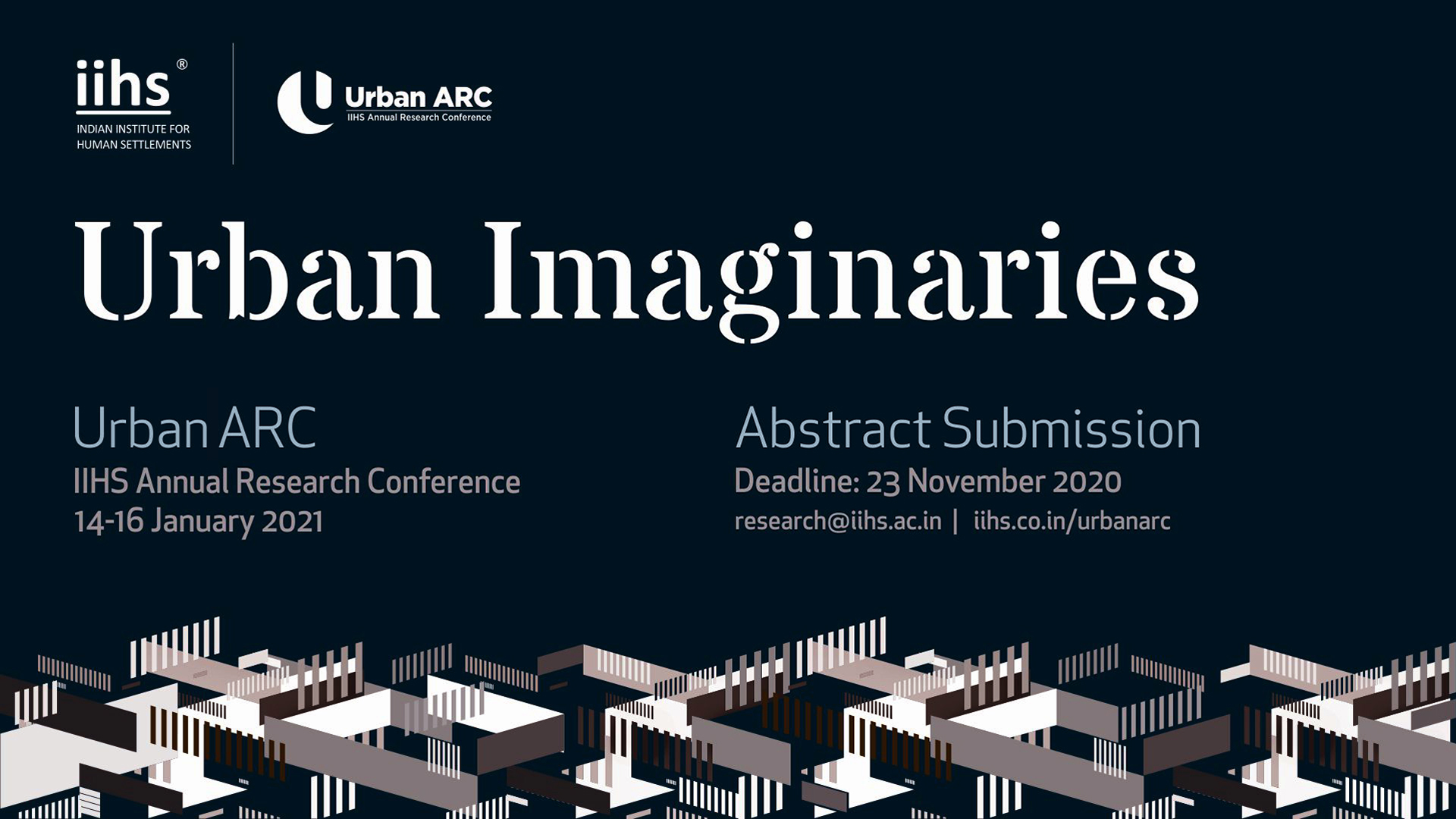 IIHS Urban Arc 2021 conference banner